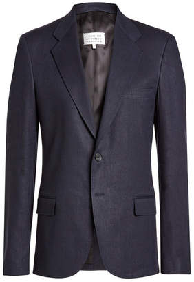 Maison Margiela Blazer with Linen and Virgin Wool