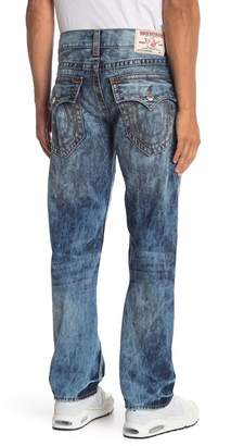 True Religion Straight Flap Pocket Acid Wash Jeans
