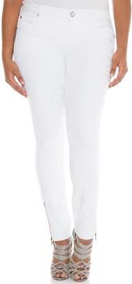 SLINK Jeans Ankle Zip Skinny Jeans