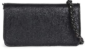 Abro Mini Black Textured Leather Cross-Body Bag