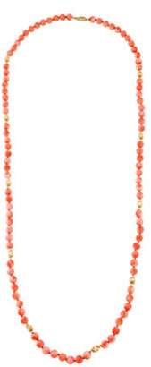14K Coral Bead Strand Necklace yellow 14K Coral Bead Strand Necklace