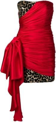Redemption silk wrap detail dress