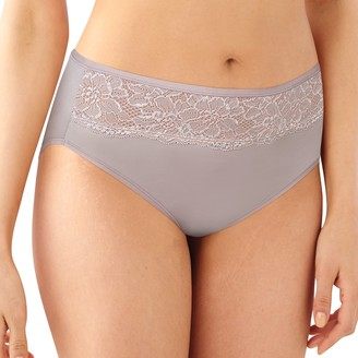 Bali Women's One Smooth U Comfort Indulgence Satin High-Cut Panty 2848