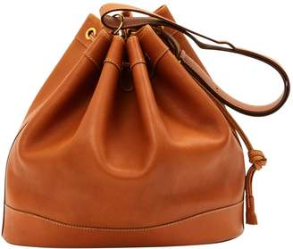 Hermes Vintage Market Camel Leather Handbag