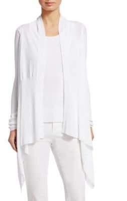 TSE x SFA Draped Cotton Cardigan