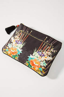 Camilla Well-Embellished Canvas Clutch