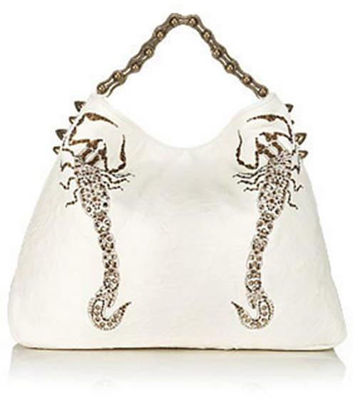 Thomas Wylde Colossus Scorpion Bag, White
