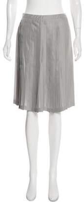 Prada Pleated Silk Skirt