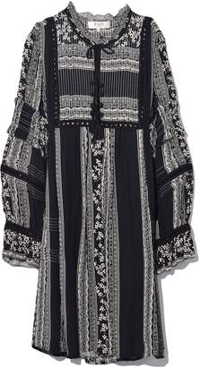 Sea Keely Long Sleeve Tunic Dress in Black Multi