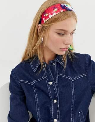 Asos Design DESIGN bright tie dye headscarf