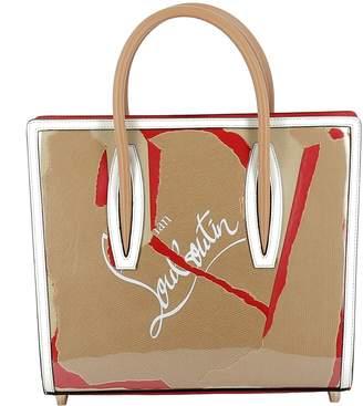 Christian Louboutin Kraft/white/red Fabric Handbag
