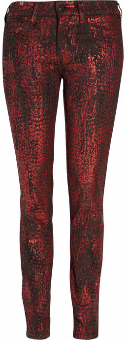 Notify Bamboo python-print mid-rise skinny jeans