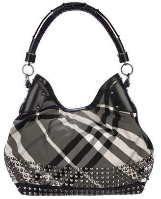 Burberry Studded Beat Check Hobo