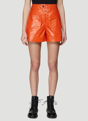 Olivier Theyskens Front Patch Pocket Shorts in Orange