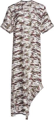 Victoria Beckham Appliquéd T-Shirt Belted Dress