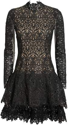 Jonathan Simkhai Guipure Lace Mock Neck Dress