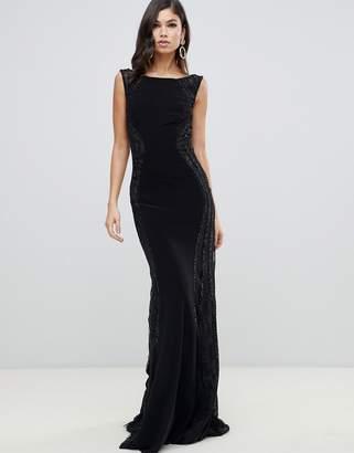 Forever Unique cowl neck maxi dress