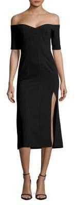 Jill Stuart Off-The-Shoulder Side-Slit Dress