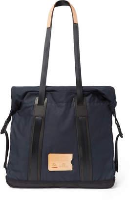 Bleu de Chauffe Barda Leather-Trimmed Waxed Cotton-Ripstop Tote Bag