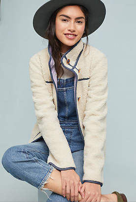 Anthropologie Piped Sherpa Jacket