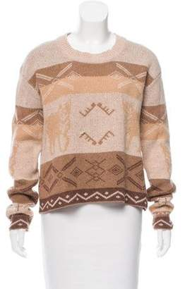 Torn By Ronny Kobo Printed Long Sleeve Sweater