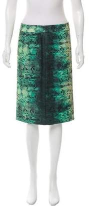 Magaschoni Floral Knee-Length Skirt w/ Tags