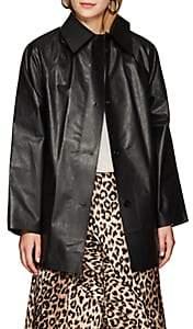 KASSL Women's Laminated Cotton-Blend Trench Coat - Oil Black