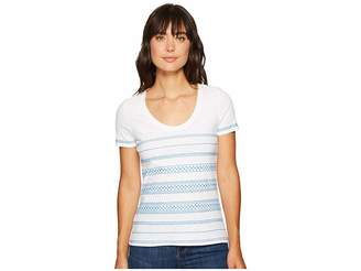 Tommy Bahama Geo Embroidered Short Sleeve Top Women's Clothing