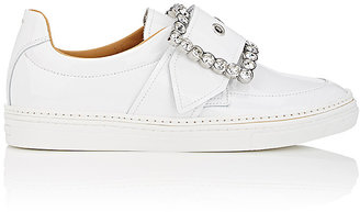 Maison Margiela Women's Oversized-Buckle Patent Leather Sneakers $990 thestylecure.com