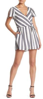 HYFVE Multi Striped Side Tie Romper