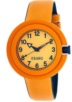 Crayo Womens Equinox Orange Strap Watch Cracr2802