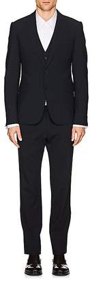 Armani Collezioni MEN'S WORSTED WOOL 3-PIECE SUIT
