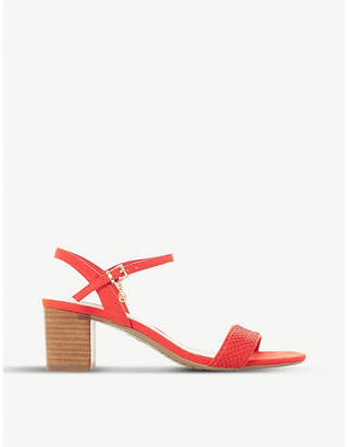 Dune Jiggle leather block-heeled sandals