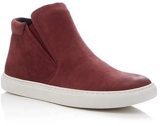 Kenneth Cole Kalvin Nubuck Leather Slip-On High Top Sneakers $130 thestylecure.com