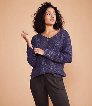 Lou & Grey Flecked V-Neck Sweater