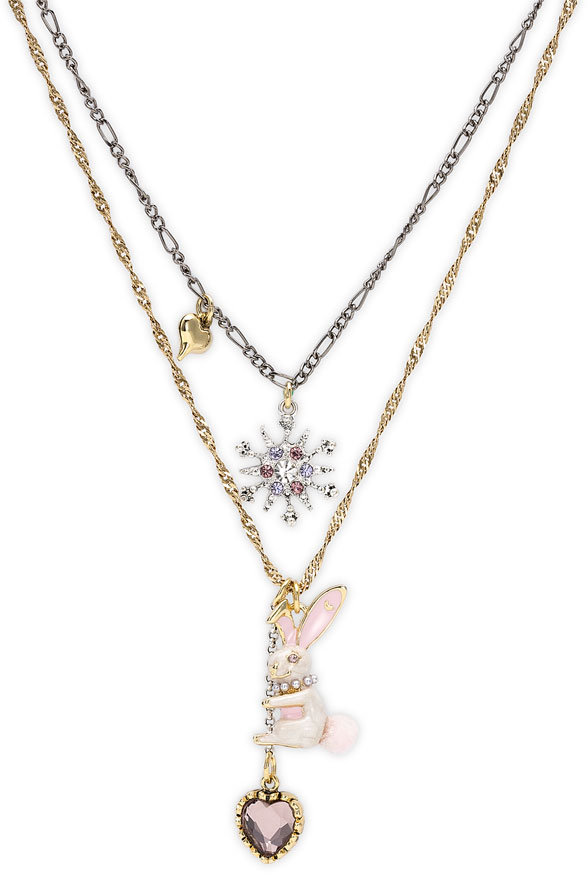 Betsey Johnson Bunny Necklace