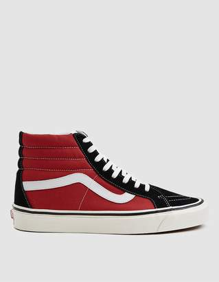 Vans Sk8-Hi 38 DX Sneaker in OG Black/OG Red