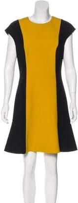 Jason Wu Virgin Wool Colorblock Dress