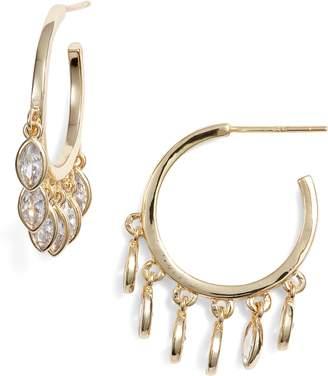 Melinda Maria Marquise Hoop Earrings
