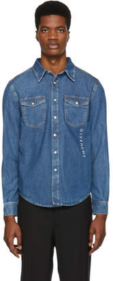Givenchy Blue Denim Logo Shirt