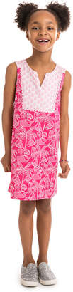 Vineyard Vines Girls Flamingo Print Shift Dress