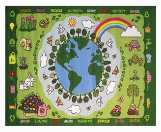 "Fun Rugs Go Green Kids' Rug, Green, 4'3"" x 6'6"""