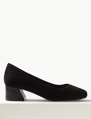 Marks and Spencer Extra Wide Fit Statement Heel Court Shoes