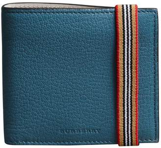 Burberry Heritage Stripe Leather International Bifold Wallet