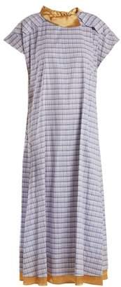 Toga Check-print cotton-poplin dress