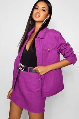 boohoo Purple Denim Mini Skirt