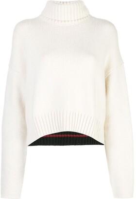 Proenza Schouler Cotton Cashmere Turtleneck Sweater