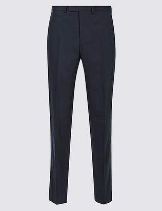 Marks and Spencer Navy Slim Fit Trousers