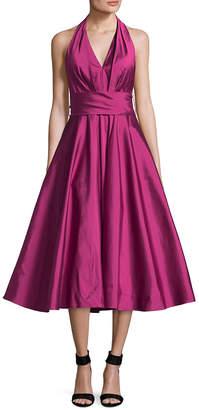 Carmen Marc Valvo Halter Cocktail Dress