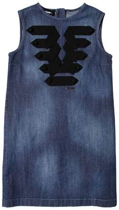 DSQUARED2 Denim Dress W/ Grosgrain Details